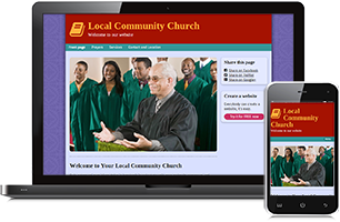 Church website example