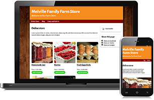 Farm store website example