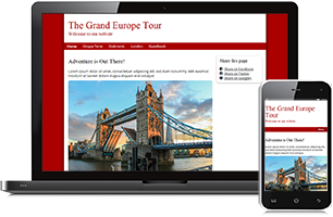 Travel website example